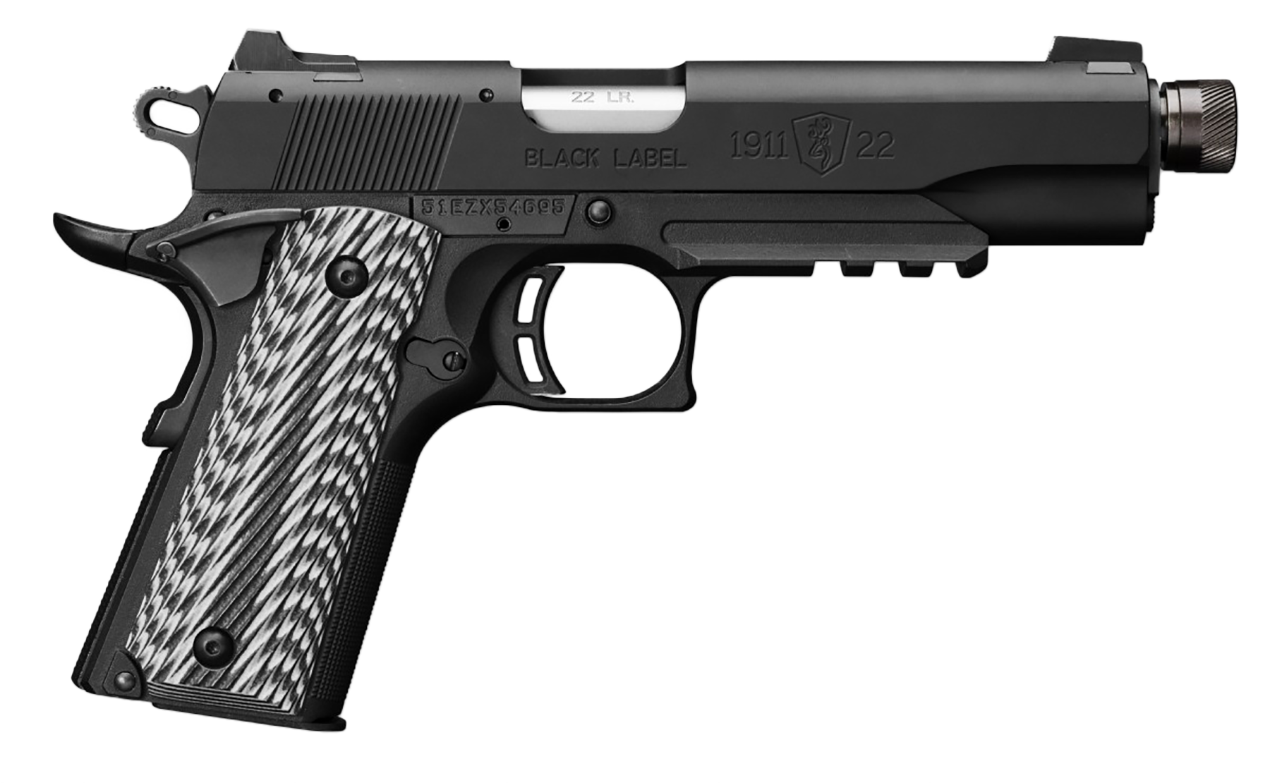 Image of Browning 1911-22 Black G10 Grips 4.8' Threaded Barrel, Silerncer Ready