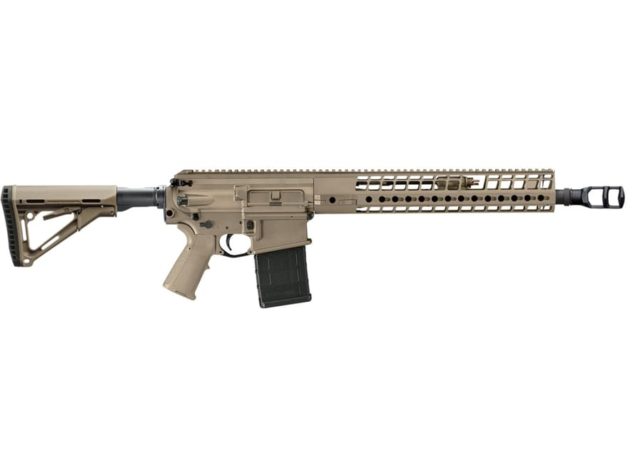 """Image of Sig Sauer 716 DMR Rifle 7.62x51mm NATO 16"""" Barrel 20-Round Collapsible Polymer Flat Dark Earth"""