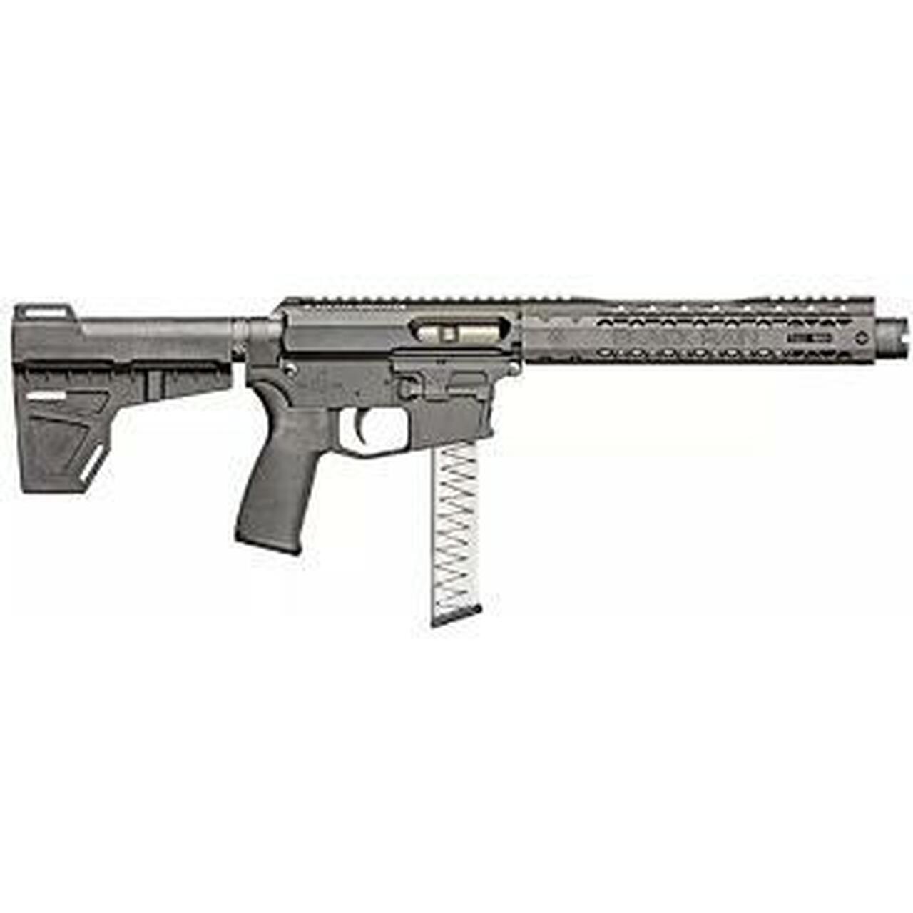 "Image of Black Rain ION 9 AR-15 Pistol, 9mm, 8.75"" Barrel, KAK Shockwave Blade Brace, Glock Magazine"
