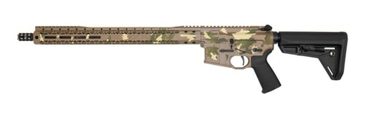 "Image of Black Rain AR-15 Billett Special 5.56/223 16"" Barrel XL Handguard Tan Camo Finish 30rd Mag"