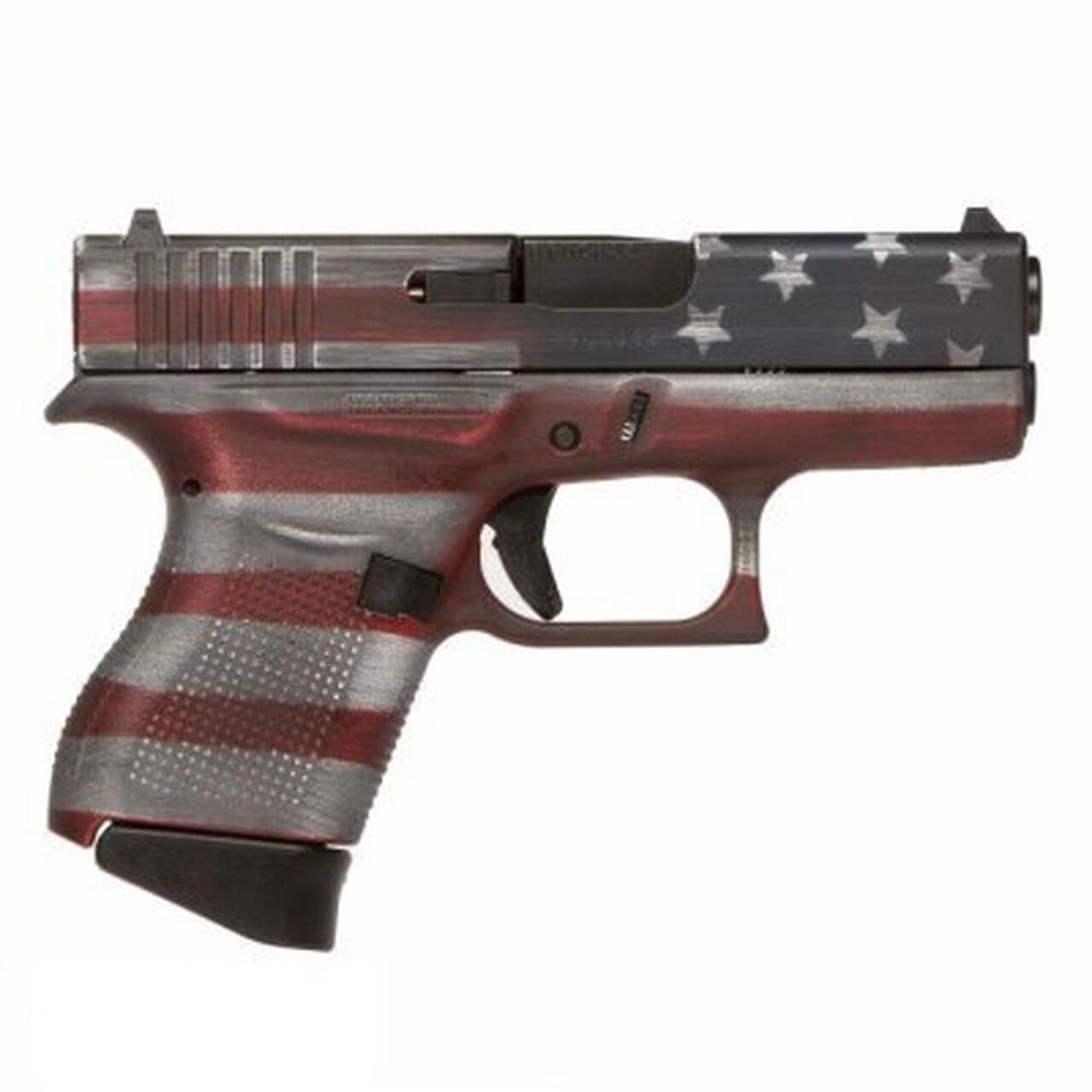 "Image of Glock G43 Subcompact, 9mm, 3.39"" Barrel, 6rd, American Flag"