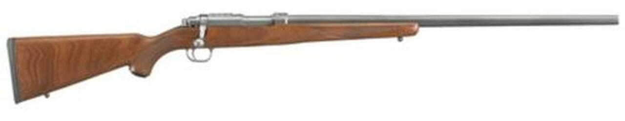"""Image of Ruger Model 77/17 .17 WSM 24"""" SS Barrel No Sights Walnut Stock Six Round Mag"""