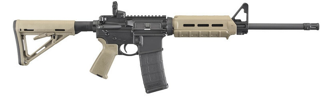 """Image of Ruger AR-556 Carbine AR-15, 16"""" Barrel, Flat Dark Earth, With Magpul Accessories, 30Rd"""
