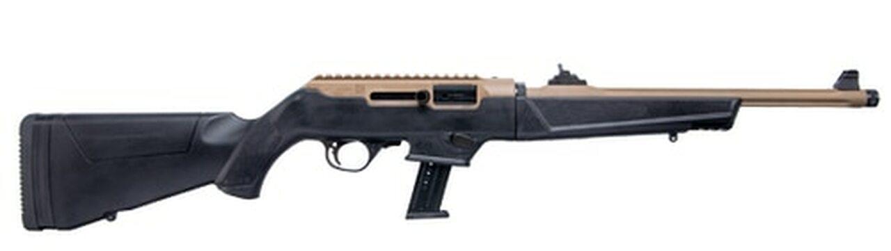 "Image of Ruger PC Carbine Flat Dark Earth 9mm Take Down, 16"" Barrel, Ruger & Glock Mag Adapter, 17rd Mag"