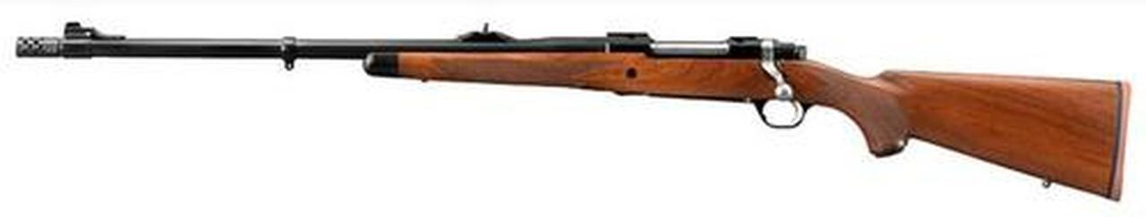 Image of Ruger African Model M77 Hawkeye, 375 Ruger, Walnut, Left Hand