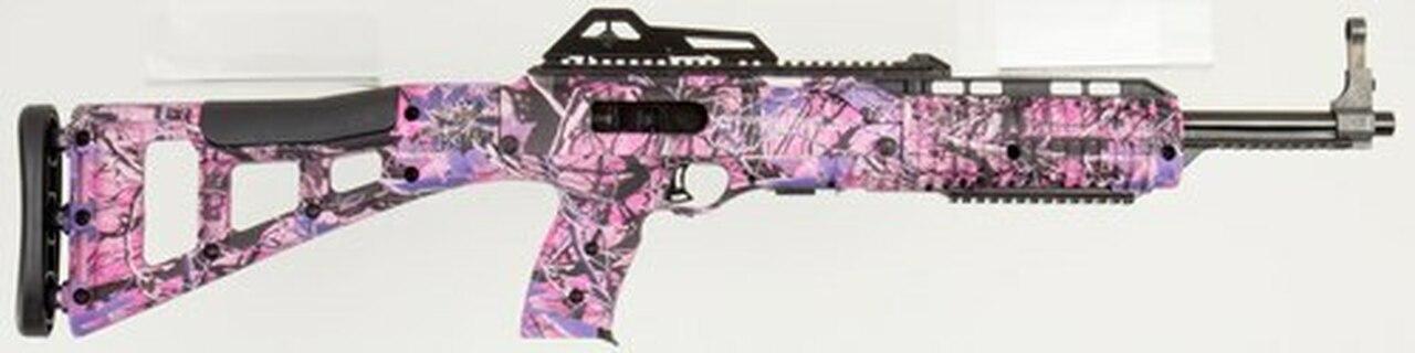 "Image of Hi-Point Model 3895 Carbine .380ACP 16.5"" Barrel Pink Camo BlackPolymer Target Stock Adjustable Sights 10rd"