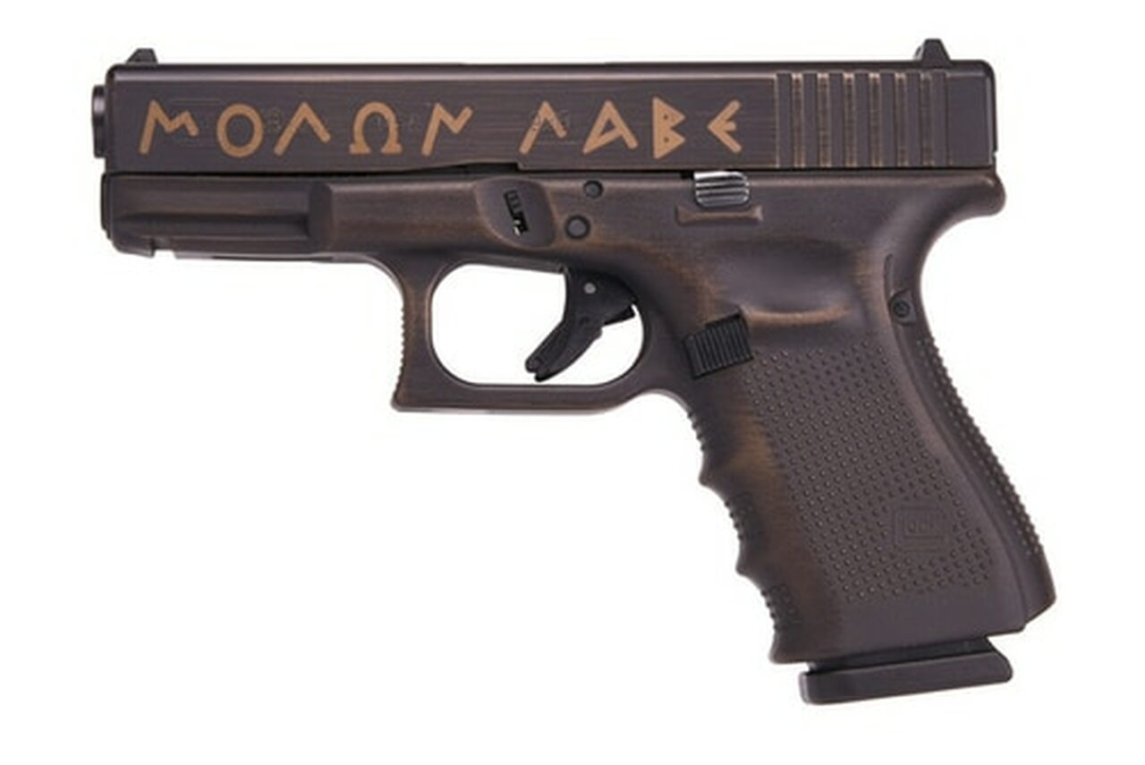 Image of Glock 19 Gen 4 Spartan Edition MOLON LABE 9mm 15rd Mag