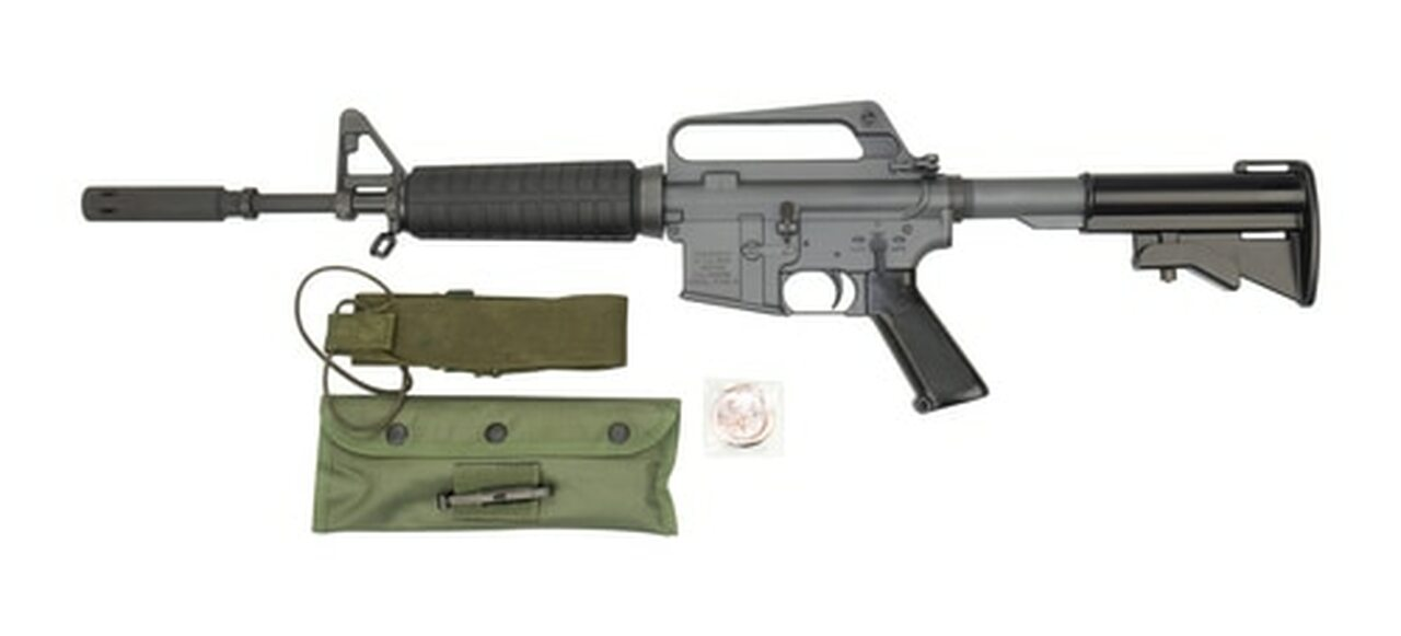 """Image of Troy XM177E2 Commemorative AR-15 Carbine 223/556, 12.5"""" Barrel, 4.5"""" Moderator, Period Corect Kit, 20 and 30rd Mag"""