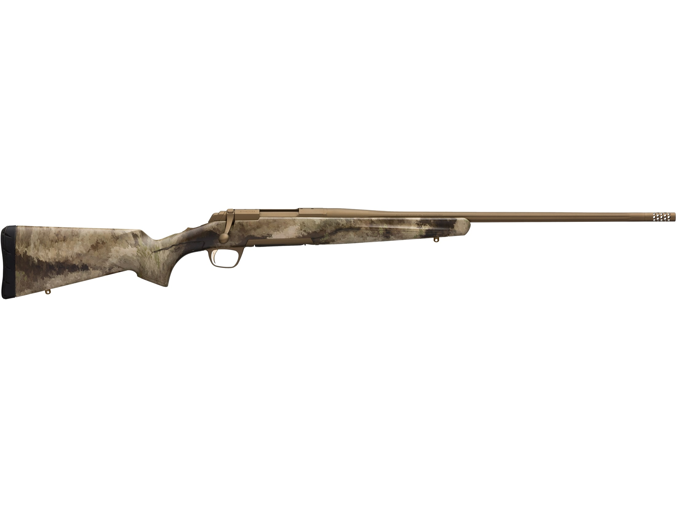 """Image of Browning X-Bolt Hell's Canyon Speed Bolt Action Rifle 300 PRC 26"""" Burnt Bronze Cerakote Barrel Burnt Bronze A-TACS AU Synthetic Stock 4+1-Round"""
