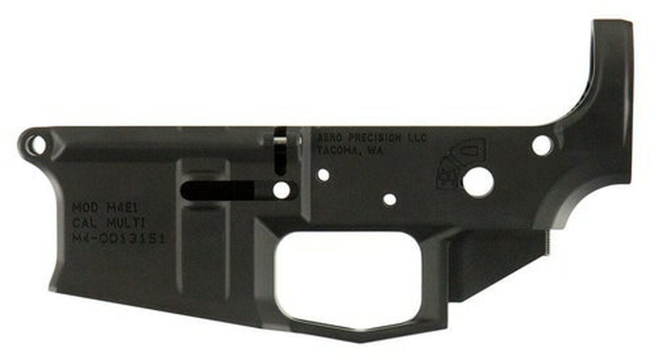 Image of Aero Precision M4E1 AR-15 Multi-Cal Stripped Lower Receiver, Black