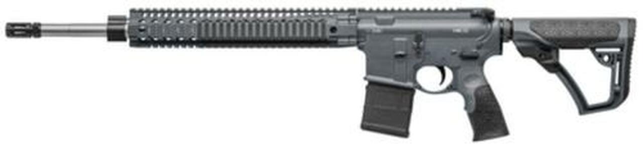 """Image of Daniel Defense DD MK12 Carbine 5.56, 18"""" Barrel, Salt Bath Nitride, DD Stock Tornado Gray Cerakote, 30rd Mag"""