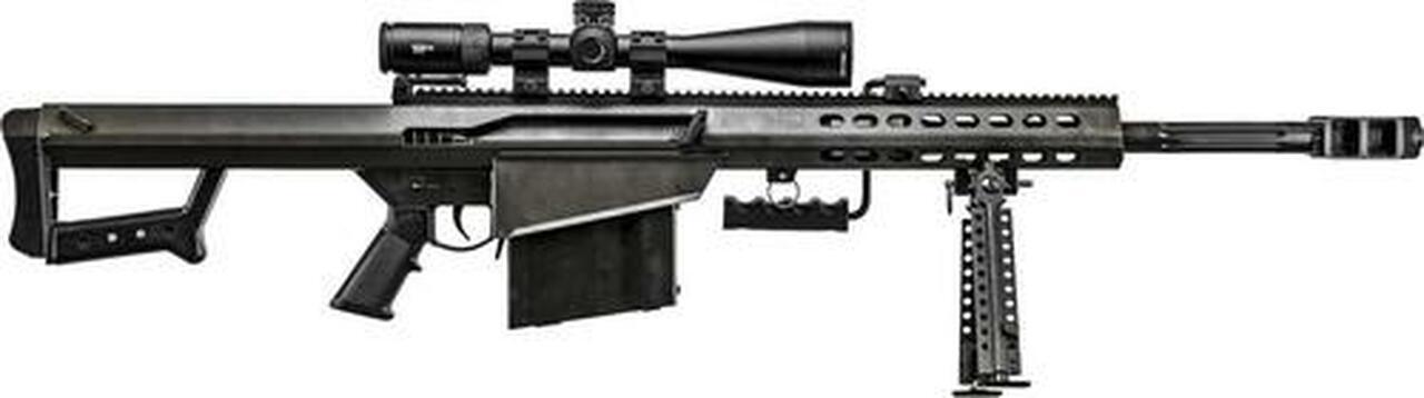 "Image of Barrett 82A1 50BMG, 20"" Barrel, Black, Synthetic Stock, 10Rd, 1 Magazine, Bi-pod, Vortex Viper PST 5-25x50 FFP With EBR-7C Reticle, Barrett Zero Gap Rings"