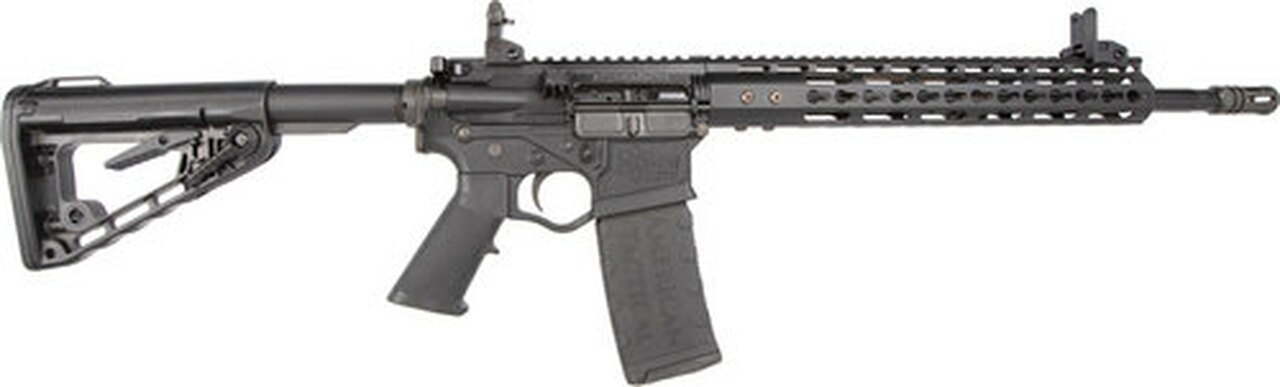"Image of American Tactical AR-15 Milsport RIA 5.56mm, 16"" Barrel, 12"" Keymod, M4 Stock, Iron Flip UP Sights, 30rd"