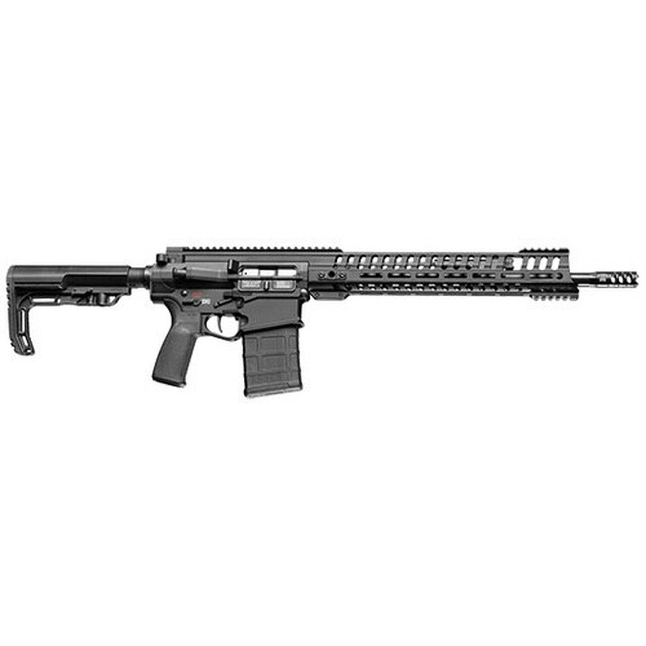 "Image of POF P308 Edge Rifle 308 Win, 16.5"" Barrel, 5 Pos Piston Gas Block, 14.5"" M-Lok Edge Rail, Black, MagPul 20rd"
