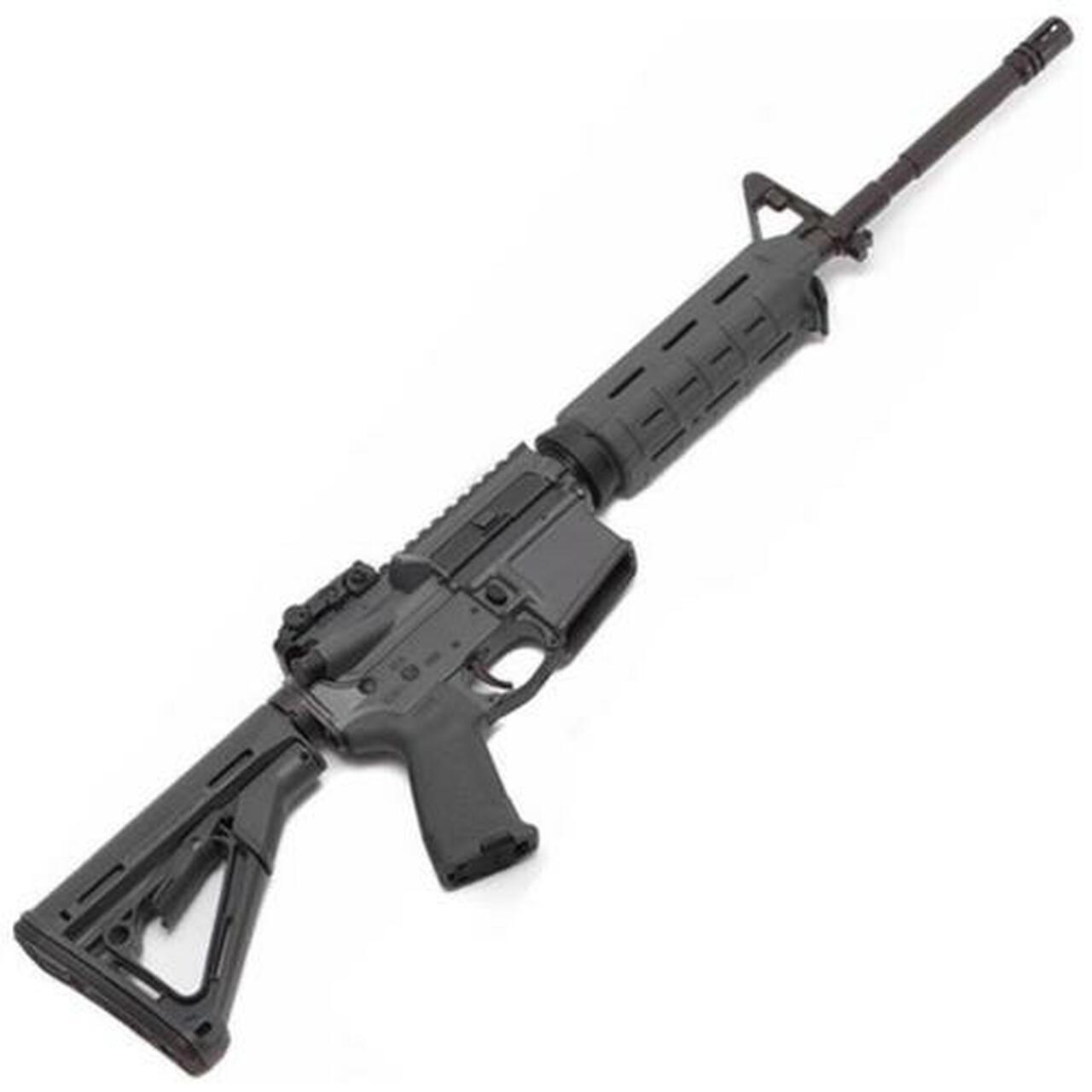 "Image of Spike's Tactical, M4LE 223/5.56 16"" Barrel, Grey, MOE Grip, Magpul CTR Stock & Backup Flip Sight No Magazine"