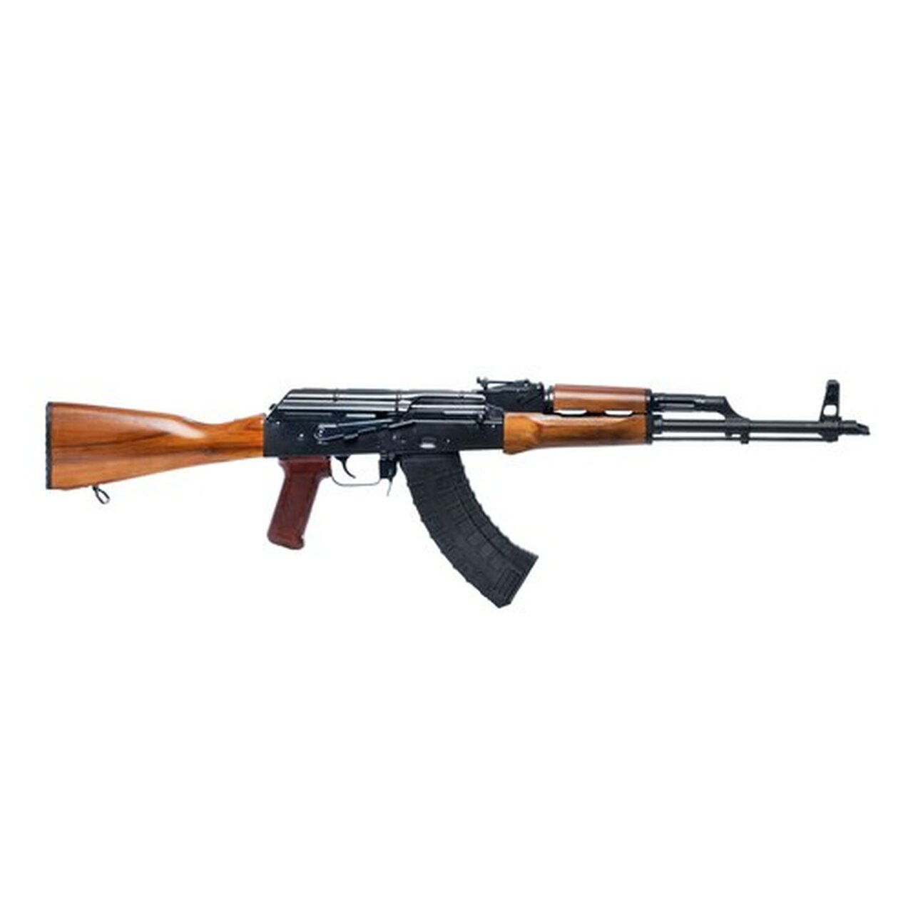 "Image of Riley Defense RAK47 AK, 7.62X39, 16"" Barrel, Black, Teak Wood Stock, Adjustable Sights, 30Rd, 1 Magazine"
