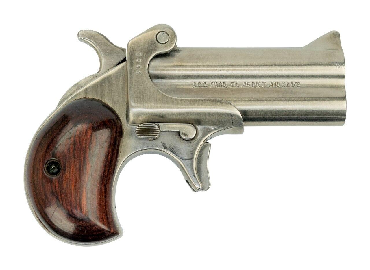 "Image of American Derringer M-1 .45 Colt/410 Ga, Trade-In, 3"" Barrel, Stainless, Leather Holster"