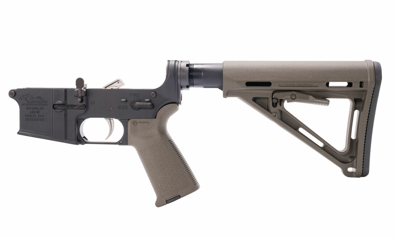 Image of Anderson AM-15 Complete Lower, Magpul Parts Kit, Magpul Buttstock, Buffer Tube, ODG