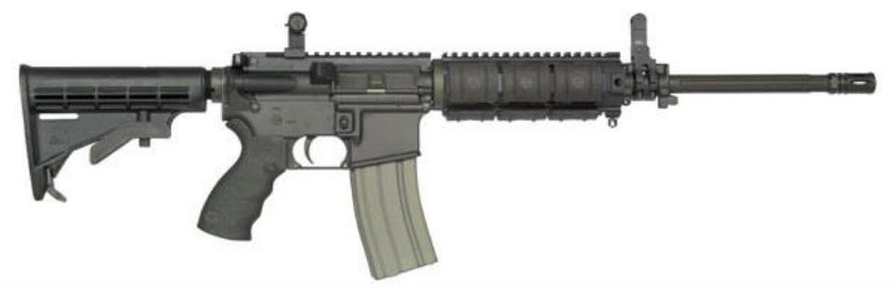 Image of Bushmaster E2S AR-15 Modular Carbine 5.56mm/223 Fluted Barrel, Flip Up Sights, 30rd Mag