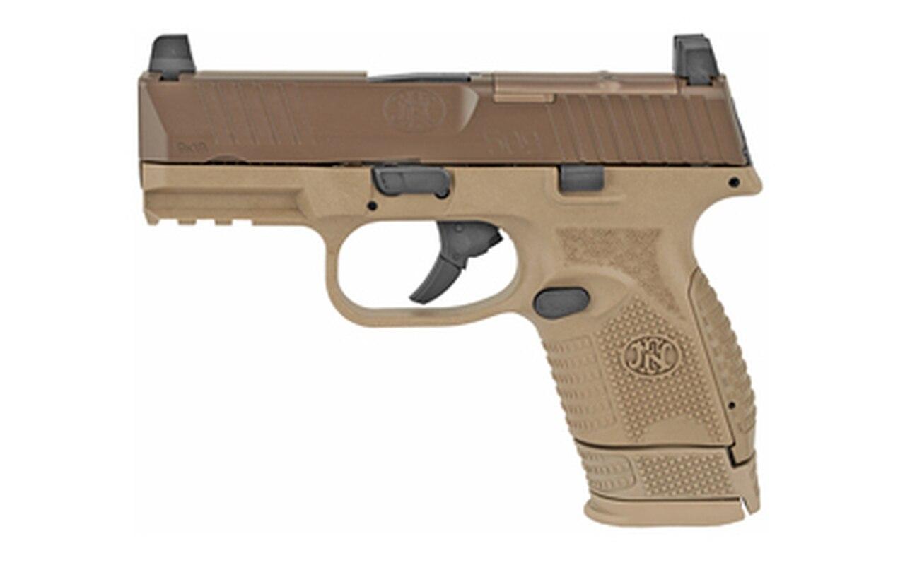 "Image of FN 509 Compact MRD 9mm, 3.7"" Barrel, FN Optics Mounting System, Flat Dark Earth, 12rd/15rd"