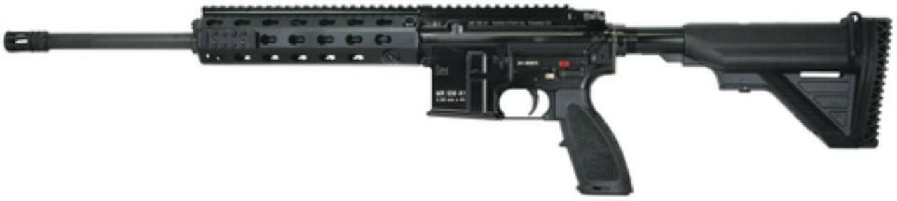 """Image of HK MR556, 5.56mm Semi-Auto Rifle 16.5"""" barrel - supplied one 10rd magazine, Troy micro sights and fixed buttstock"""