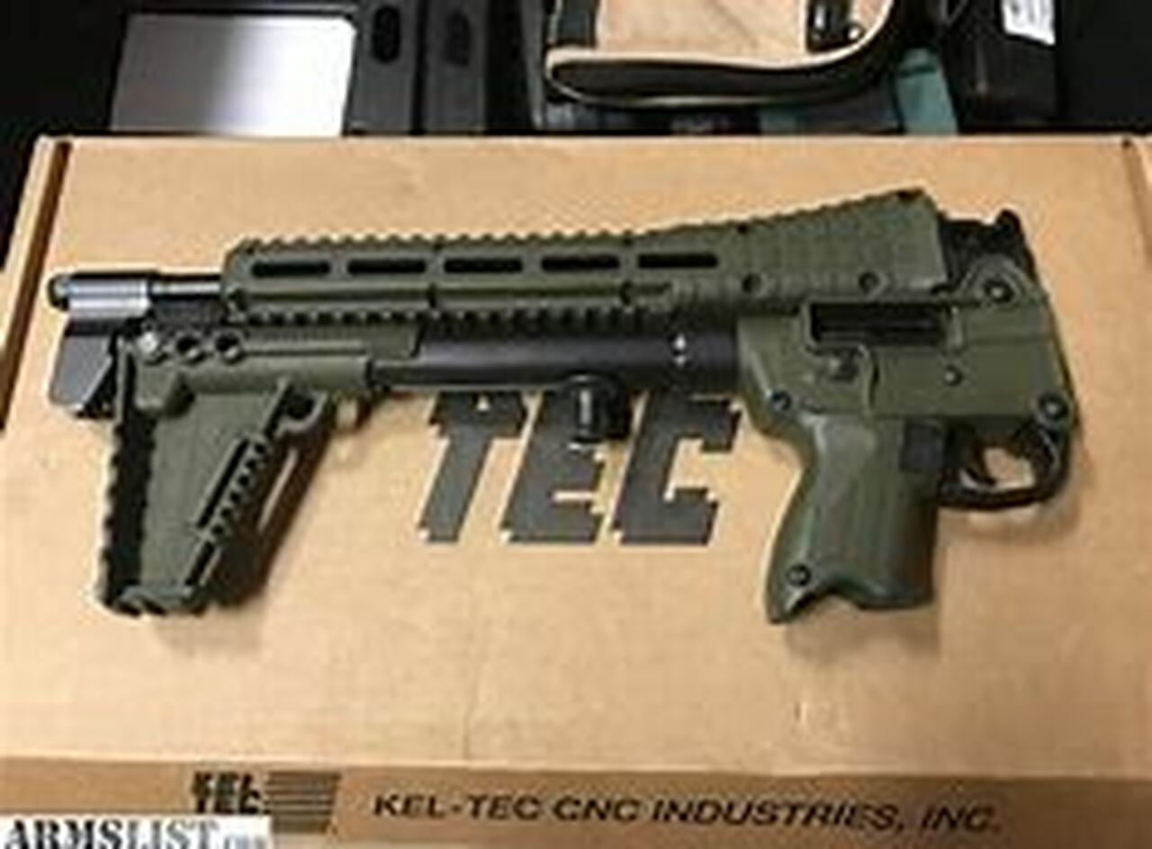 "Image of Kel-Tec Sub 2000 .40SW 16"" Barrel Glock 23 Magazine Grip Green Stock 1- 10rd Mag"