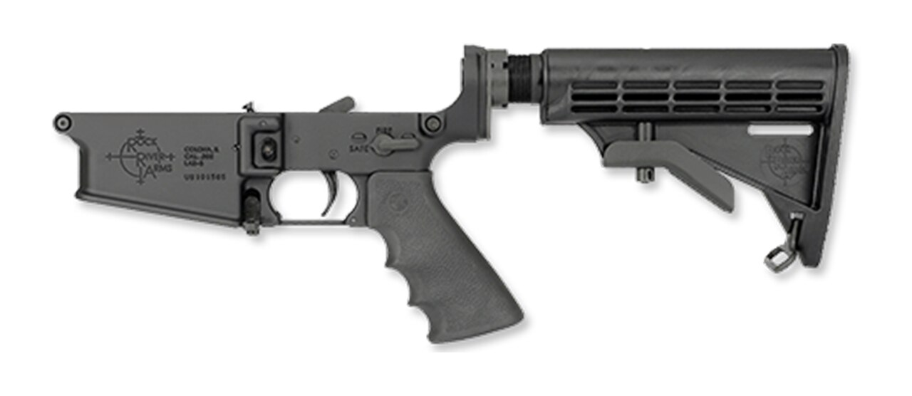Image of Rock River Arms LAR-8 Complete Lower, 2-Stage Trigger, Tactical CAR Stock, Black