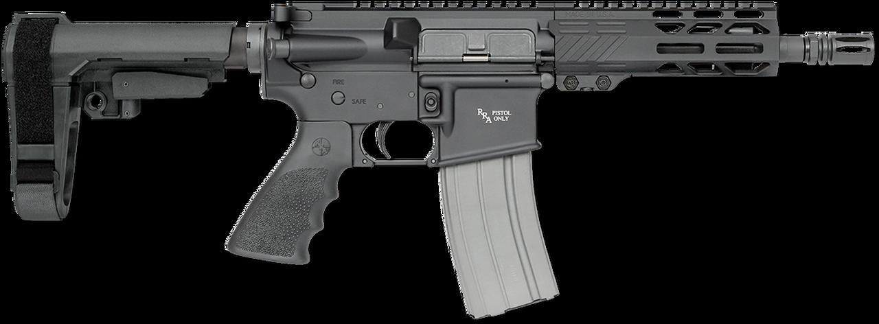 "Image of Rock River Arms LAR-15 A4 Pistol 223/5.56 NATO 7"" Black Hogue Rubber SBA3 Tactical Arm Brace"
