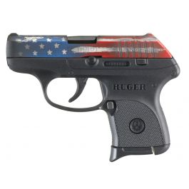 Image of Ruger LCP .380 ACP Pistol, American Flag Cerakote - 13710